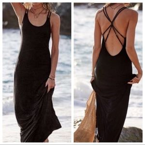 Victoria's Secret Black Strappy Back Maxi Dress